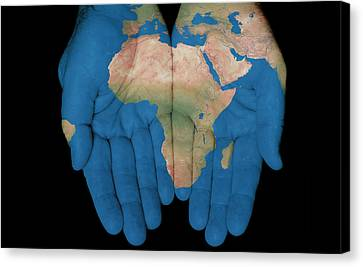 Africa In Our Hands Canvas Print