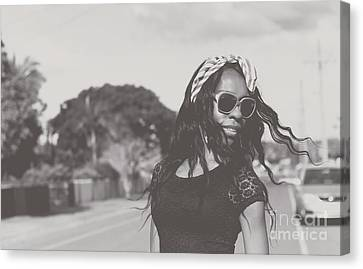 African American Woman With Highfashion Hairstyle Canvas Print by Jorgo Photography - Wall Art Gallery