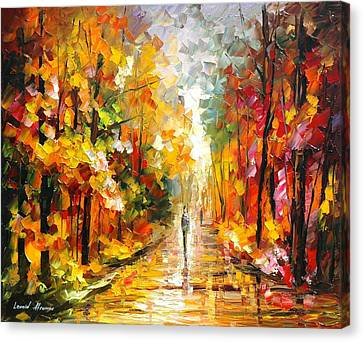 After The Rain Canvas Print by Leonid Afremov