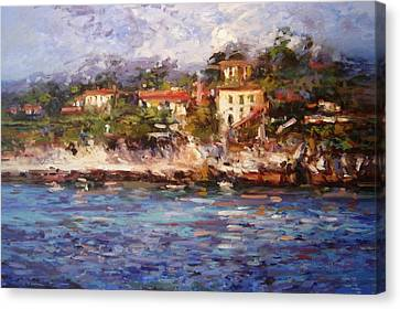 Afternoon Light In Cassis Canvas Print by R W Goetting