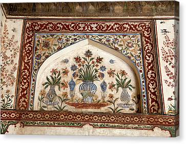 Agra, India Still-life Floral Painting Canvas Print