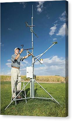 Agricultural Weather Station Canvas Print by Peggy Greb/us Department Of Agriculture