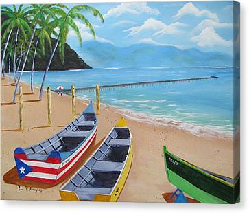 Aguadilla Crashboat Beach Canvas Print by Luis F Rodriguez