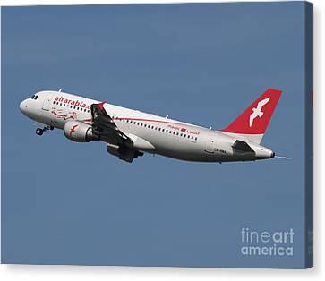 Air Arabia Maroc Airbus A320 Canvas Print by Paul Fearn