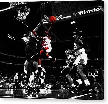 Air Jordan  Canvas Print by Brian Reaves