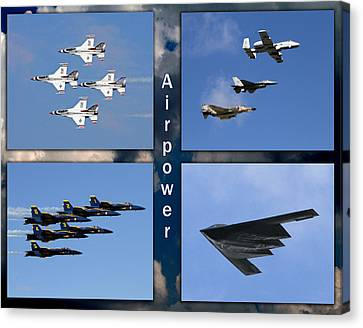 Canvas Print featuring the photograph Air Power by John Freidenberg