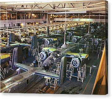 Aircraft Factory, 1942 Canvas Print by Granger