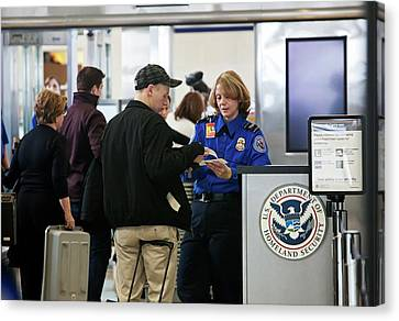 Airport Security Check Canvas Print by Jim West
