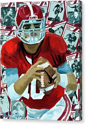 Alabama Quarter Back #10 Canvas Print by Michael Lee