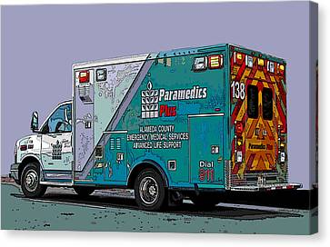 Alameda County Medical Support Vehicle Canvas Print