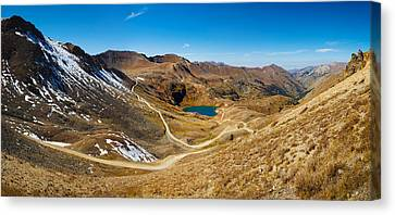 Alaska Basin And Como Lake Surrounded Canvas Print by Panoramic Images