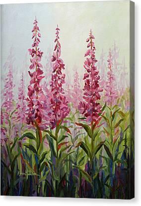 Alaska Fireweed Canvas Print by Karen Mattson
