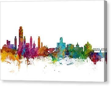 Albany Canvas Print - Albany New York Skyline by Michael Tompsett