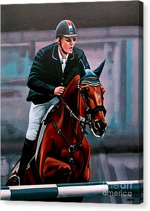 Jumping Horse Canvas Print - Albert Zoer And Sam by Paul Meijering