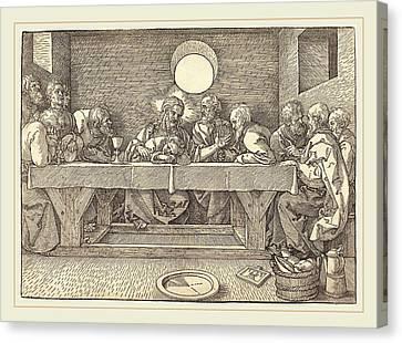 Last Supper Canvas Print - Albrecht Dürer German, 1471-1528, The Last Supper by Litz Collection