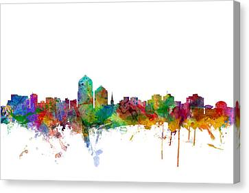 Albuquerque New Mexico Skyline Canvas Print by Michael Tompsett