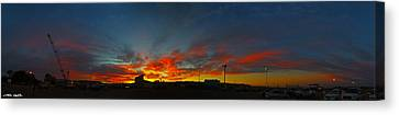 Albuquerque Sunrise Canvas Print by Chris Martin