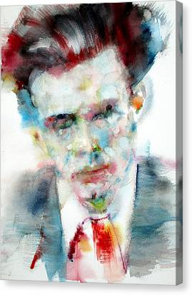 Aldous Huxley - Watercolor Portrait Canvas Print