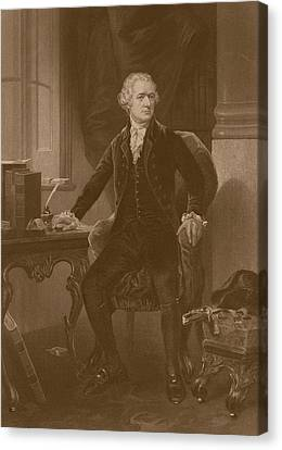 Alexander Hamilton Canvas Print by War Is Hell Store