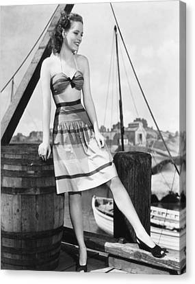 Alexis Smith, Ca. Early 1940s Canvas Print by Everett