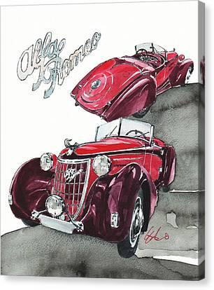 Alfa Romeo C6 Canvas Print by Yoshiharu Miyakawa