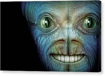 Alien Face Canvas Print by James Larkin