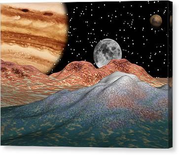 Alien Sky Canvas Print by Michele Wilson