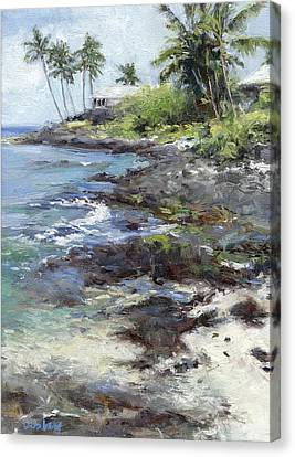 Ali'i Drive Homes Canvas Print by Stacy Vosberg