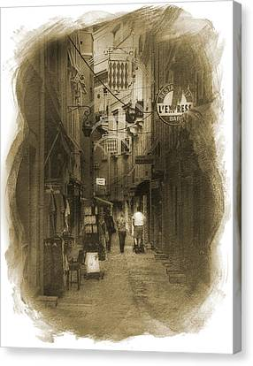 Canvas Print featuring the photograph Alley by Cecil Fuselier