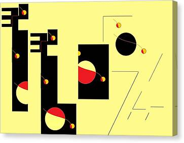 Canvas Print featuring the digital art Alluring In Yellow by Cletis Stump