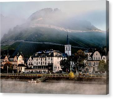 Canvas Print featuring the photograph Along The Rhine by Jim Hill
