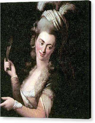 Decolletage Canvas Print - Aloysia Weber Lange (c1760-1839) by Granger