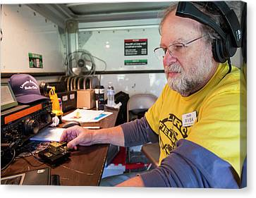 Amateur Radio Operator Canvas Print by Jim West