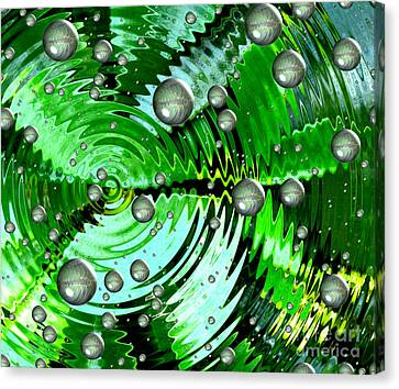 Amazing. Abstract Art. Green Grey  Blue Yellow  Canvas Print