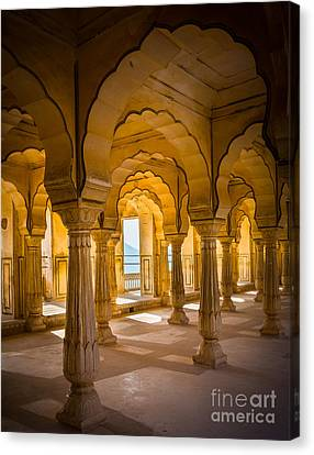 Amber Fort Arches Canvas Print by Inge Johnsson