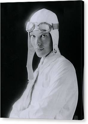 Pioneers Canvas Print - Amelia Earhart by Retro Images Archive
