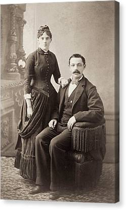 American Couple, 1880s Canvas Print by Granger