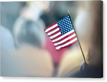 American Flag Canvas Print by Alex Grichenko