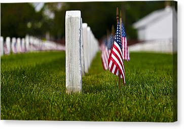 Canvas Print featuring the photograph American Flag by Jerry Gammon