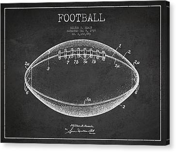 American Football Patent Drawing From 1939 Canvas Print
