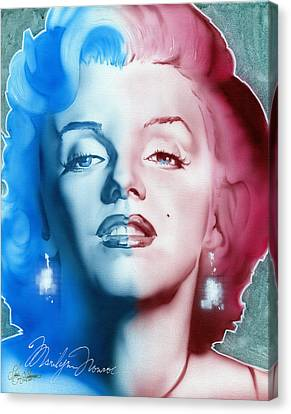Marylin Monroe Canvas Print - American Girl by Luis  Navarro