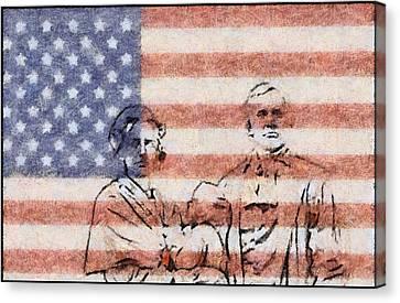 American Patriots Canvas Print