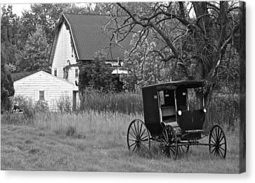 Amish Living Canvas Print