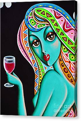 Amitty Groovy Chick Series Detail Canvas Print by Joseph Sonday