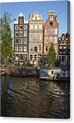 Amsterdam - Old Houses At The Herengracht Canvas Print by Olaf Schulz