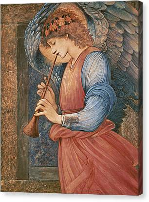 An Angel Playing A Flageolet Canvas Print