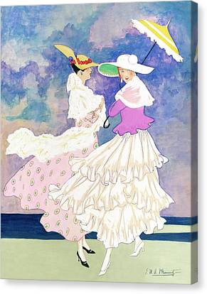 An Illustration For Vogue Magazine Canvas Print by E.M.A. Steinmetz