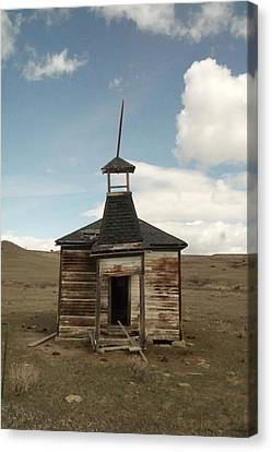 Old School Houses Canvas Print - An Old Montana School House  by Jeff Swan