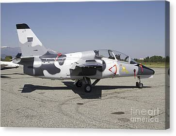 An S-211 Jet Trainer Aircraft Canvas Print by Luca Nicolotti