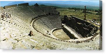 Ancient Theatre In The Ruins Canvas Print